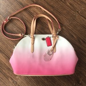 Coach Pink and White Ombre Purse
